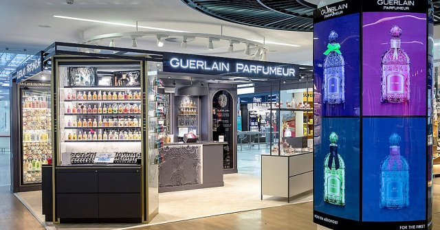 The Guerlain Parfumeur boutique at Charles de Gaulle Airport in Paris.