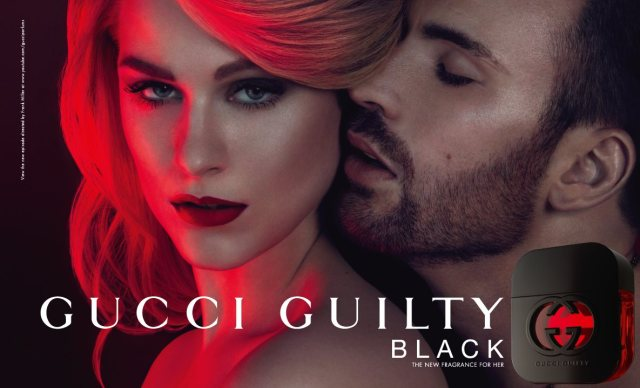 Gucci Guilty Black for Women with Chris Evans Banner