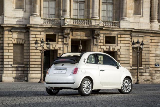 La Petite Robe Noire drives a Fiat 500 CAR