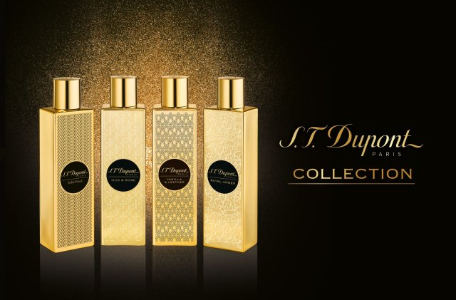 S.T Dupont Vanilla & Leather and Collection Banner