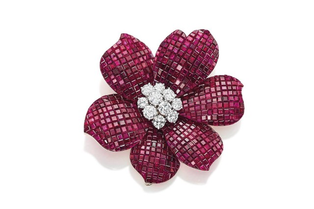 Ruby and Diamond Brooch by Van Cleef & Arpels