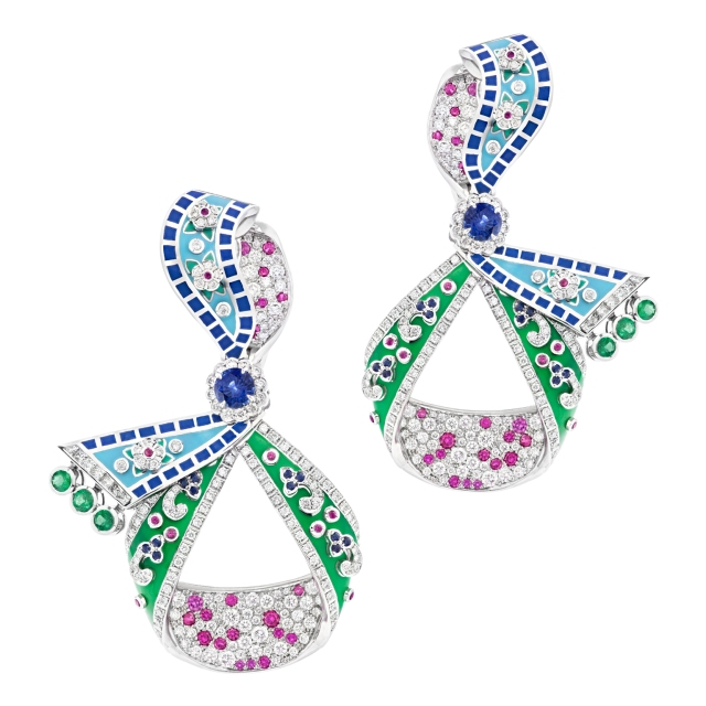 Fabergé-Summer-in-Provence-Multi-coloured-Sapphire-Earrings