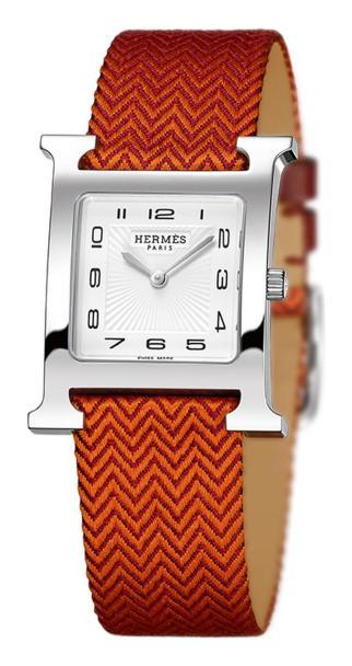 hermès-h-hour-orange-silk-strap