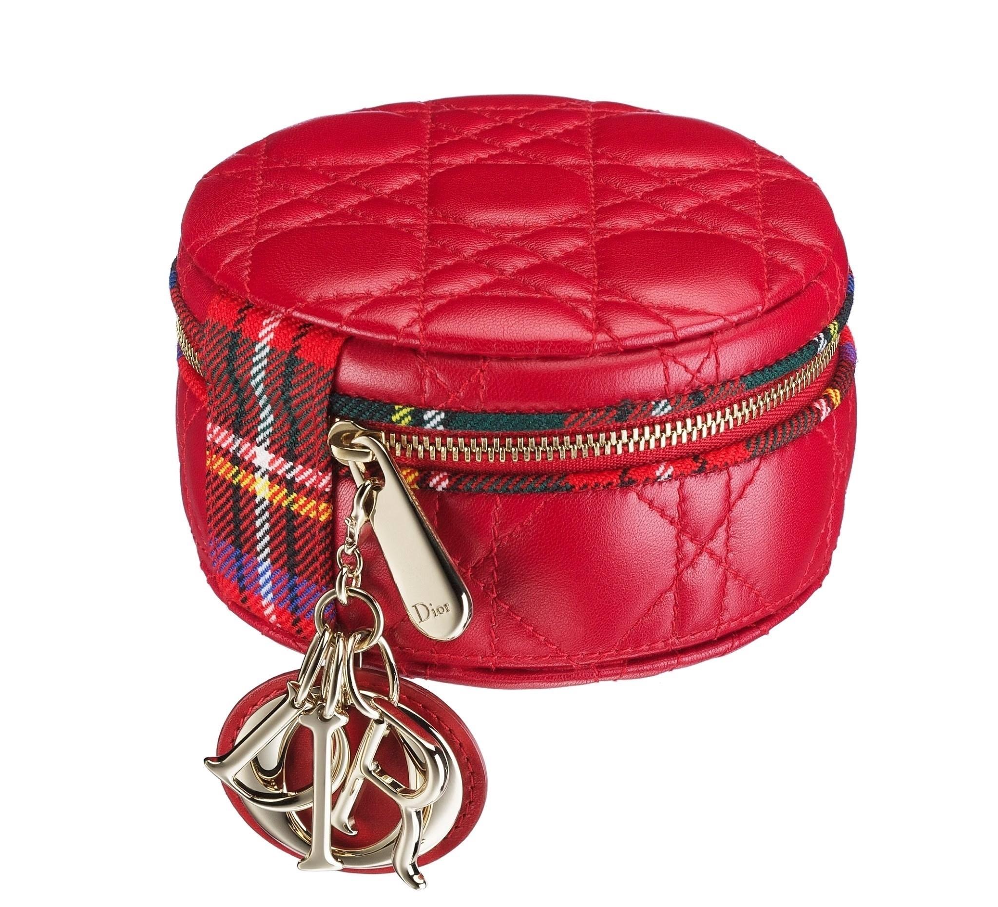 Christian-Dior-Jewelry-case-in-red-lambskin