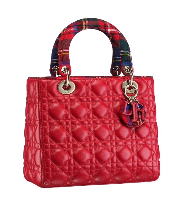 Christian-Dior-Lady-Dior-bag-in-red-lambskin