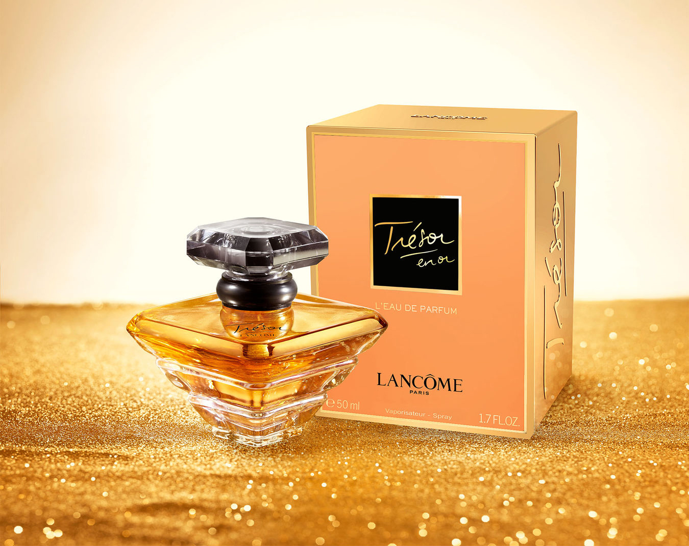 Lancôme-Trésor-en-Or-Flacon-and-Box-Gold