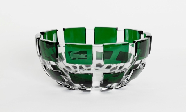 Lacoste-Maisons-Francaises-80th-Anniversary-Baccarat-Bowl-Trocadero-Creation-de-Georges-Chevalier-1921-Cristal-Emeraude