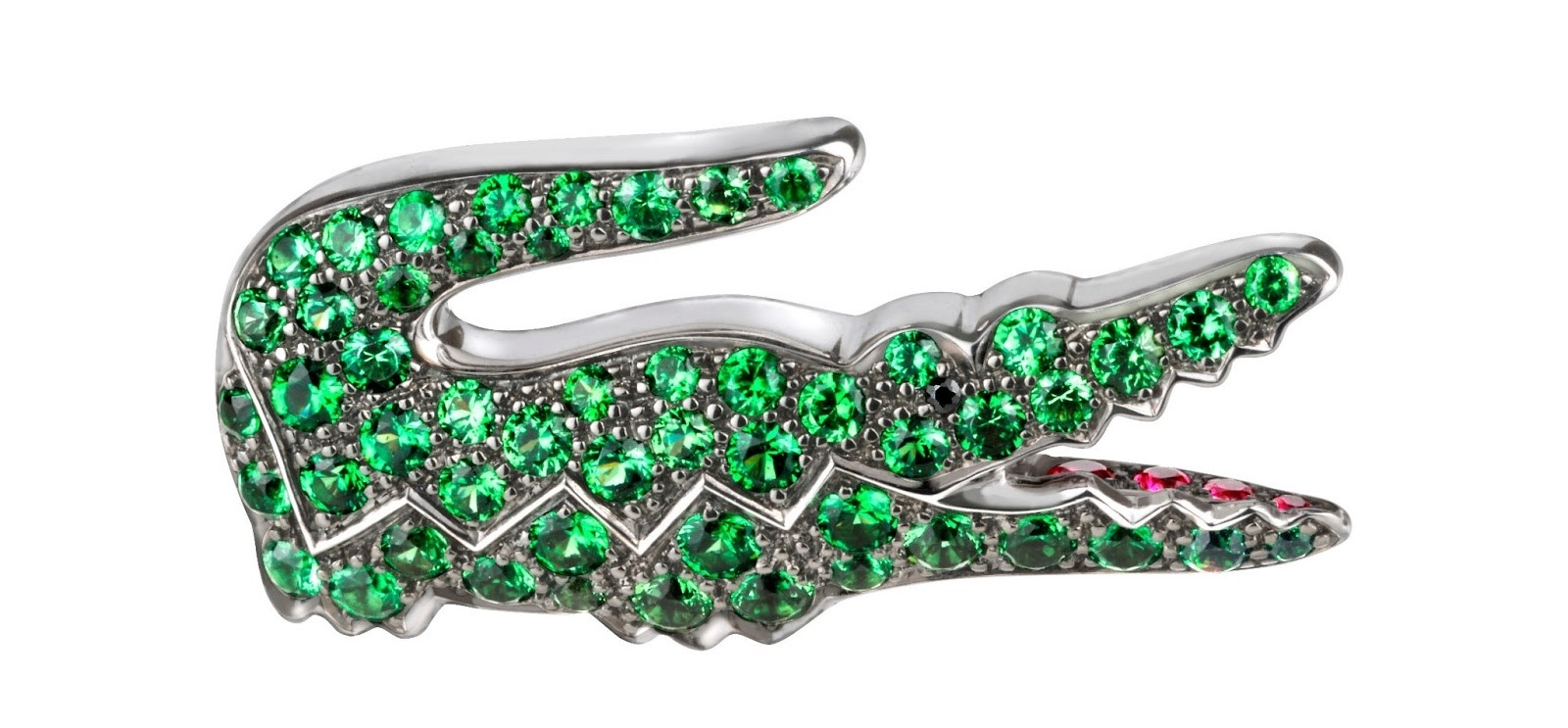 Lacoste-Maisons-Francaises-80th-Anniversary-Collection-Boucheron-Brooch-Green