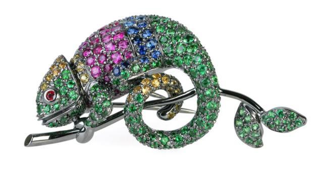 Boucheron Chameleon brooch