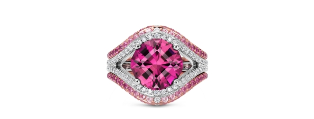 Mandala in Pink Tourmaline Jeffrey Hunt