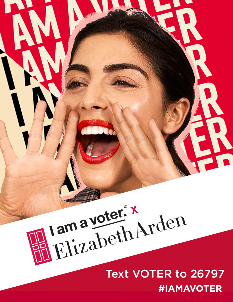 Elizabeth Arden Announces 2020 Support of I am a voter