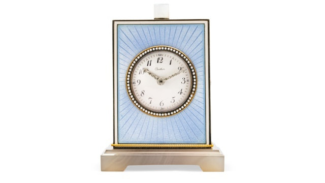Christies-Geneva-Cartier-Belle-Epoque-Enamel-Agate-Moonstone-and-Diamond-Minute-Repeater-Clock-by-Maurice-Coüet