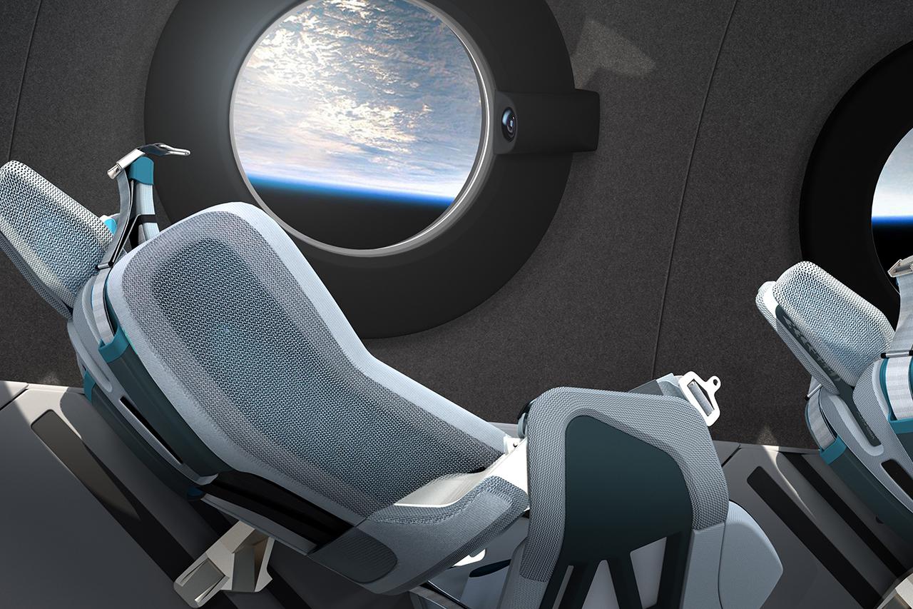 Virgin Galactic Spaceship Seats In Space